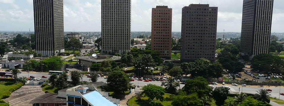 Une vue aérienne du District Autonome d´Abidjan